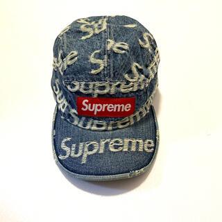 Supreme - シュプリーム Frayed Logos Denim Camp Cap