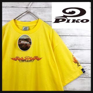 PIKO - 【90.s pikoデッドストック】希少ファイヤーパターン ビックロゴプリント