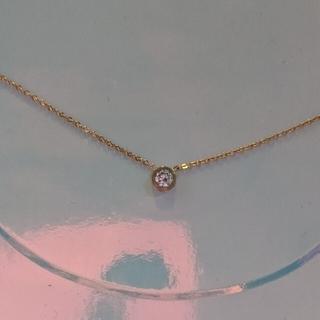 k18金 最高級CZダイヤモンド ピンクゴールド ネックレス プレゼント