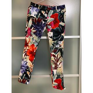 ダブルスタンダードクロージング(DOUBLE STANDARD CLOTHING)のdouble standard clothing 花柄パンツ38 2時間限定割引(スキニーパンツ)