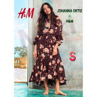 エイチアンドエム(H&M)の【新品】JOHANNA ORTIZ x H&M フラウンスクレープワンピース(ロングワンピース/マキシワンピース)