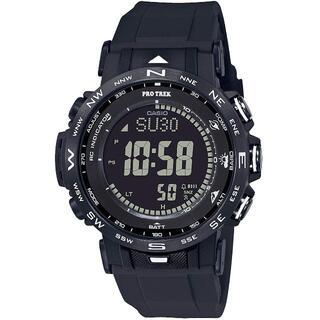 カシオ(CASIO)のカシオ プロトレック 反転液晶 デジタルモデル 電波ソーラー 腕時計 ブラック(腕時計(デジタル))