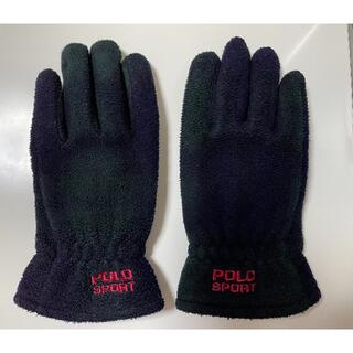 ポロラルフローレン(POLO RALPH LAUREN)のPOLO SPORT ポロスポーツ ブラックウォッチ グローブ 手袋(手袋)
