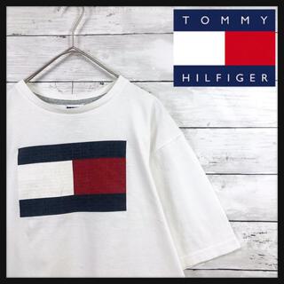 TOMMY HILFIGER - 【90.s トミーヒルフィガー超希少Mexico製】ビック凸凹プリント