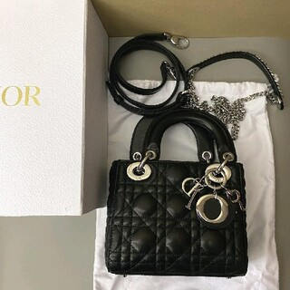 Christian Dior - Dior ラムスキン シルバー金具 レディディオール バッグ