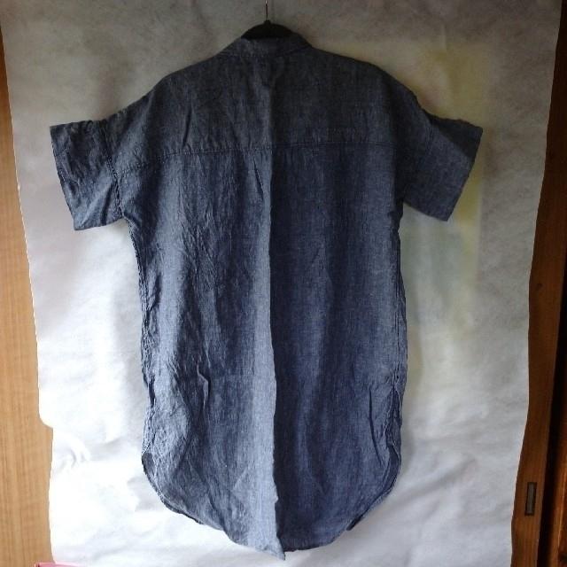coen(コーエン)の週末値下げ*coen リネンロングシャツ レディースのトップス(シャツ/ブラウス(半袖/袖なし))の商品写真