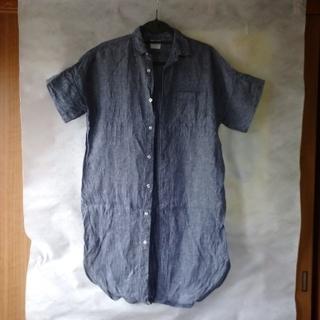 coen - coen*リネンロングシャツ
