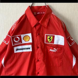 プーマ(PUMA)のプーマ×フェラーリ PUMA×Ferrari オフィシャル シャツ 赤  L(シャツ)