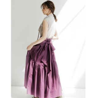FRAY I.D - 新品タグ付 クロスベルトティアードスカート 紫 FRAY I.D
