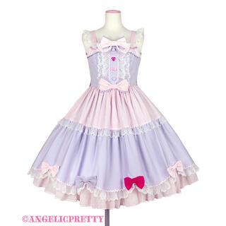 アンジェリックプリティー(Angelic Pretty)のRibbon 様 取り置き中購入不可 Ribbon Partyジャンパースカート(ひざ丈ワンピース)