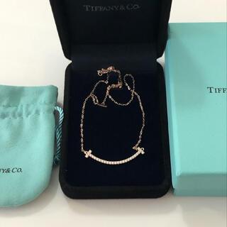 Tiffany & Co. - ティファニー Tスマイル ネックレス ローズゴールド