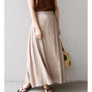 シップスフォーウィメン(SHIPS for women)のリネンフレアースカート(ロングスカート)