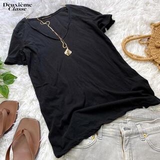 ドゥーズィエムクラス(DEUXIEME CLASSE)のドゥーズィエムクラス  定番ガーメントダイTシャツ 黒 日本製(Tシャツ(半袖/袖なし))