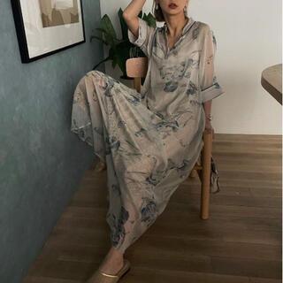 アメリヴィンテージ(Ameri VINTAGE)のameri ISLA PIPING SHEER DRESS(ロングワンピース/マキシワンピース)
