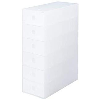 ムジルシリョウヒン(MUJI (無印良品))の無印良品 ポリプロピレン小物収納ボックス6段(小物入れ)