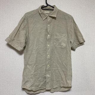 ジーユー(GU)のGU☆メンズ☆生成半袖シャツ・オープンカラーシャツ(シャツ)