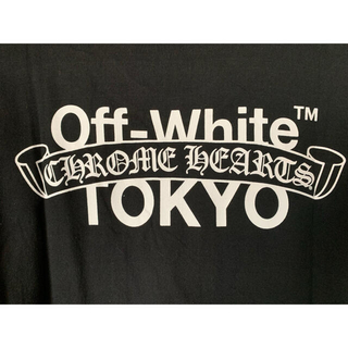 クロムハーツ(Chrome Hearts)のクロムハーツ × オフホワイト コラボ TOKYOバックプリント Lサイズ(Tシャツ/カットソー(半袖/袖なし))