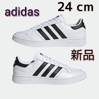 アディダス(adidas)のadidas★チームコート❤︎スニーカー★24cm  新品タグ付き (スニーカー)