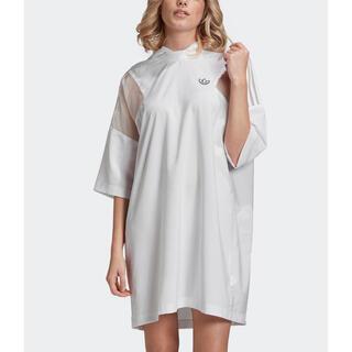 アディダス(adidas)のパーカー ドレス / アディダスオリジナルス ホワイト M(パーカー)