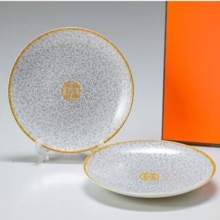 Hermes - エルメス モザイク ヴァンキャトル BBプレート皿( 16cm ) × 2枚!