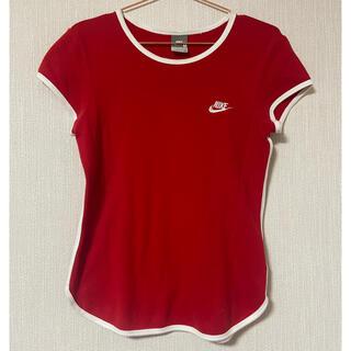 ナイキ(NIKE)のNIKE レディース Tシャツ 古着 ヴィンテージ あいみょん 赤 スポーティ(Tシャツ(半袖/袖なし))