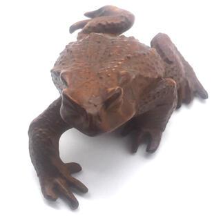 蛙 柘植 木彫(彫刻/オブジェ)