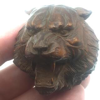 ライオン 柘植 木彫(彫刻/オブジェ)