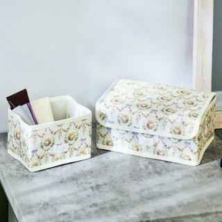 Maison de FLEUR - メゾン ド フルールの花柄収納ボックス2個セット