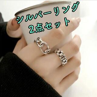 2個セット 指輪☆シルバー 韓国 クロス ペアリング
