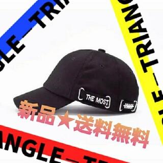 ロゴ シンプル キャップ レディース メンズ お洒落 韓国 ブラック(キャップ)