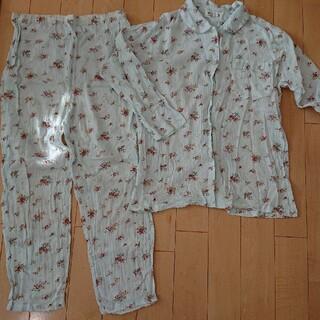 パジャマ  Lサイズ  (水色   花柄)