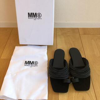 MM6 - 新品未使用mm6 レザーサンダル フラットサンダル マルジェラ 足袋タビ