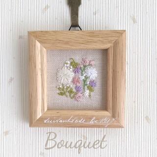 Bouquet刺繍*インテリアフレーム purple(その他)