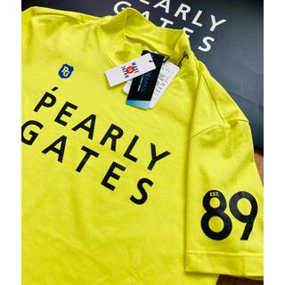 新品 パーリーゲイツ COOLMAX ベア天 半袖ハイネックシャツ L (5)黄