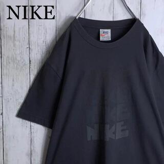 NIKE - 【希少】ナイキ ポルトガル製 両面染込み 4連 ゴツナイキ Tシャツ L
