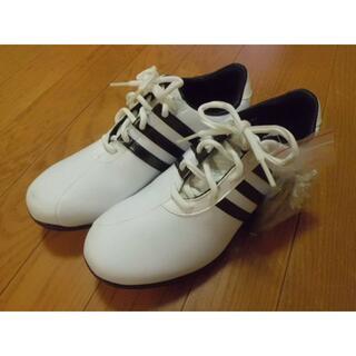 アディダス(adidas)の美品★アディダスゴルフシューズEVG791003★23cm★紐タイプ★スパイク(シューズ)
