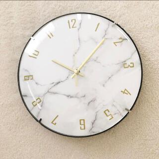 大理石柄 掛け時計 大理石柄 時計 ★ラスト1点★