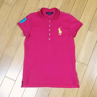 ラルフローレン(Ralph Lauren)の【160】ラルフローレン 半袖ポロシャツ 濃ピンク ビッグポニー ナンバー3(Tシャツ/カットソー)
