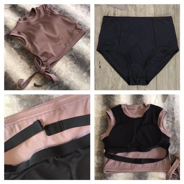 ZARA(ザラ)の新作❤︎ヌーディーカラー ハイウエスト ビキニ 水着 体型カバー レディースの水着/浴衣(水着)の商品写真