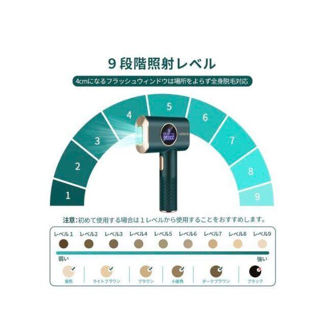 IPL 光脱毛器 光エステ 99万発 美顔機能付全身使用 日本語説明書付き スマホ/家電/カメラの美容/健康(ボディケア/エステ)の商品写真