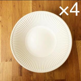 美濃焼 プレート ベージュ 22cm   4枚(食器)