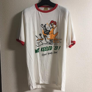 80's Vintage  ヴィンテージ リンガー Tシャツ レッド 70's(Tシャツ/カットソー(半袖/袖なし))
