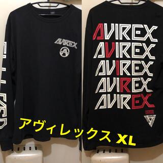 AVIREX - 大きめXLサイズ!AVIREX アヴィレックス 古着長袖Tシャツ 厚手ロンT