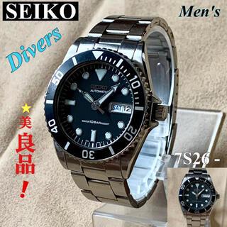 SEIKO - SEIKO セイコー ラウンドデイデイトメンズダイバーズ時計 自動巻7S26