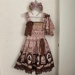 アンジェリックプリティー(Angelic Pretty)のアンジェリックプリティ Musee du chocolate ジャンスカ(ひざ丈ワンピース)