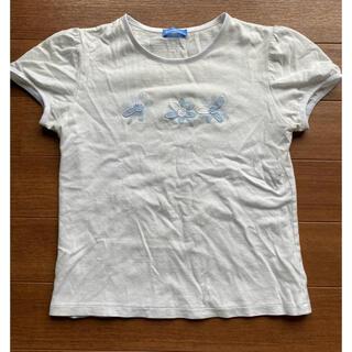 familiar - ファミリア 半袖 白 花柄 Tシャツ 150