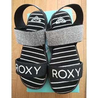 ロキシー(Roxy)のROXY ボーダー ラメ サンダル(サンダル)
