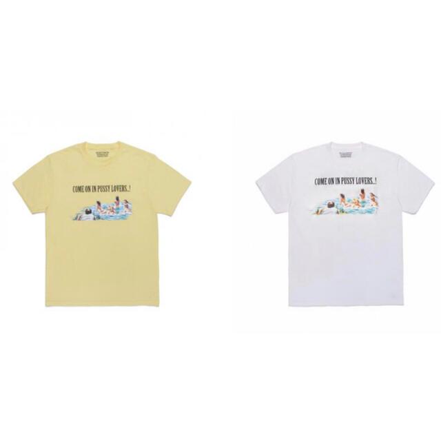 WACKO MARIA(ワコマリア)のWACKO MARIA CREW NECK COLOR T-SHIRT 2枚 メンズのトップス(Tシャツ/カットソー(半袖/袖なし))の商品写真