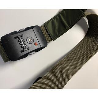 ムジルシリョウヒン(MUJI (無印良品))の無印 スーツケース用ベルト カーキ色 TSAロック(旅行用品)