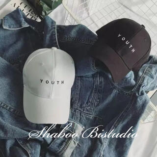 【新品】ロゴキャップ 帽子 シンプル 白 ユニセックス 帽子キャップ YOUTH(キャップ)